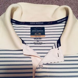 Greg Norman Golf polo shirt XL short slv strips